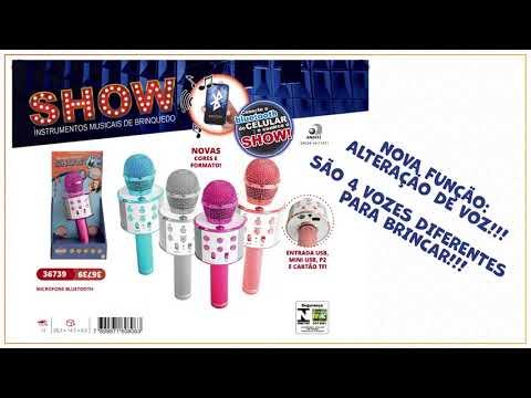 Linha Show - Microfone Karaoke Bluetooth (REF 36739)