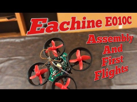 Read Description Eachine E010C Review, Assembly and First Flight Best First FPV Drone - Banggood