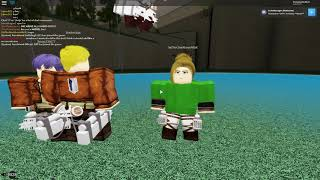 MEETING THE CREATOR OF AOT LAST BREATH Roblox