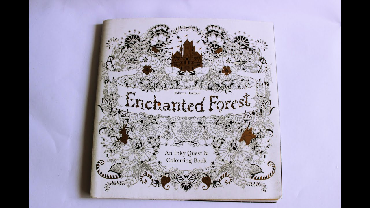 Enchanted Forest Coloring Book Flip Through Review