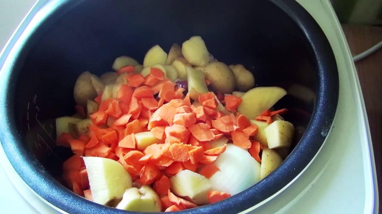 Сварить суп с мясом в мультиварке