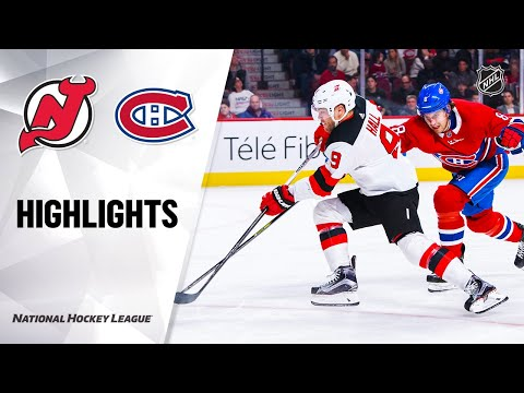 NHL Highlights | Devils @ Canadiens 11/28/19