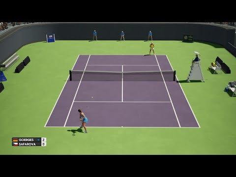 AO Tennis - Julia Görges vs Lucie Safarova - Qatar Open - PS4 Gameplay