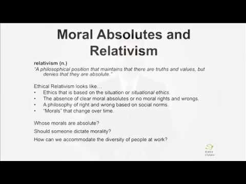 ETH101 - Moral Absolutes and Relativism in Business Ethics ...