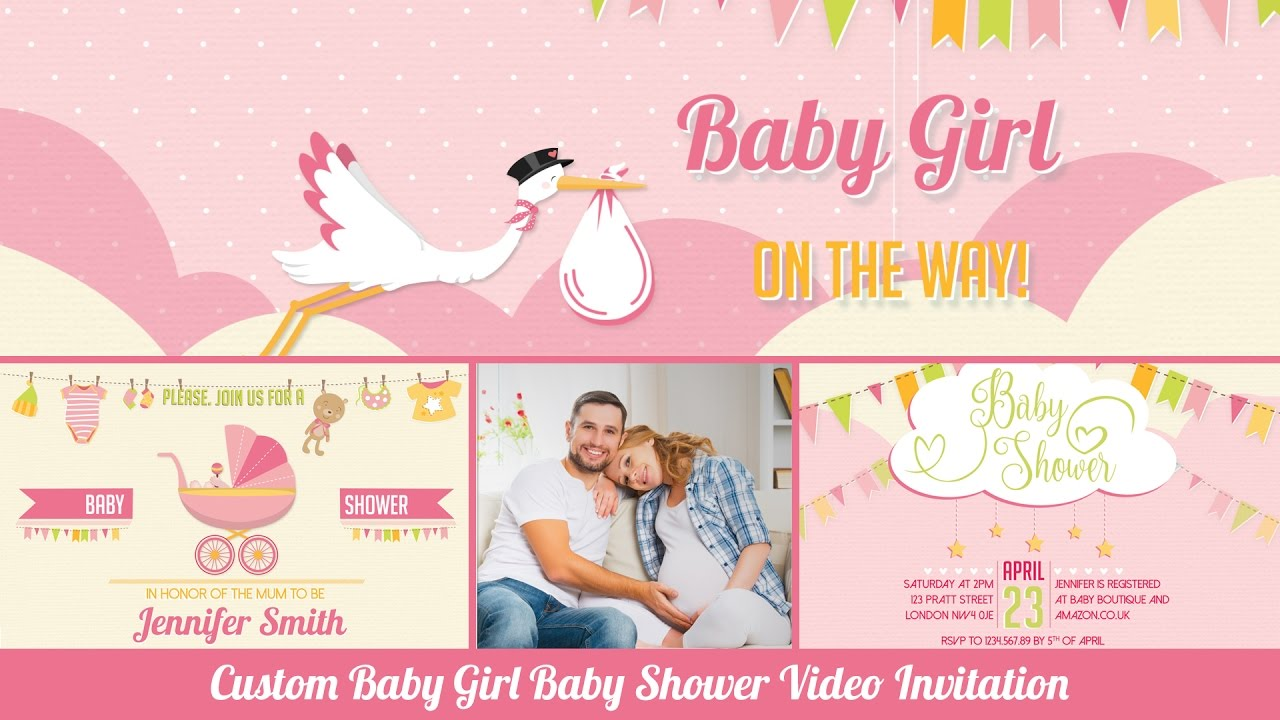 Baby shower invitation baby girl personalized baby shower invitation baby shower invitation baby girl personalized baby shower invitation with photos filmwisefo