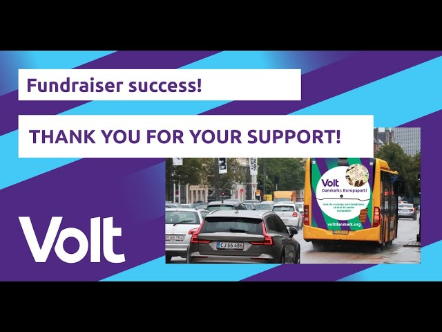 YouTube: Successful fundraiser! Volt is running in local elections in 2021!