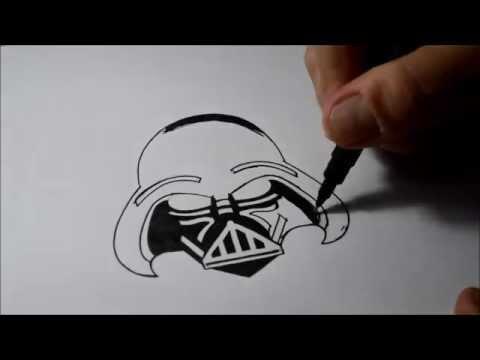 Como Desenhar O Darth Vader How To Draw Darth Vader Youtube