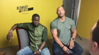 The Rock Dwayne Johnson & Kevin Hart, Answer In Spanish