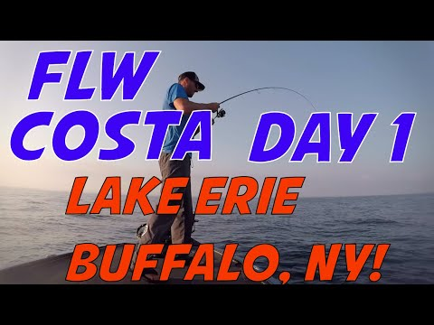 FLW COSTA SERIES NORTHERN OPEN On Lake Erie Out Of Buffalo, NY - Catching Smallmouth Bass On Erie!