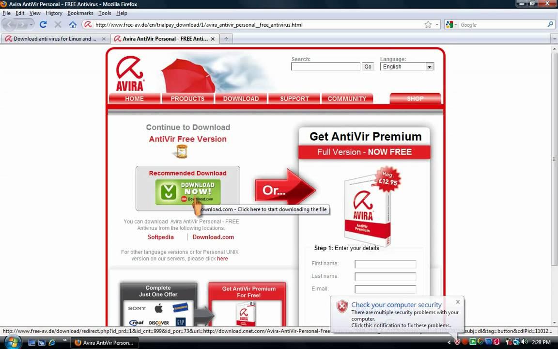 cnet free antivirus reviews