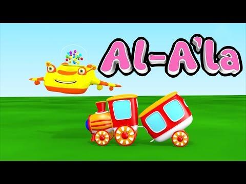 Animation 3D Juz Amma Al A'la Recite Quran Children With Battar Trains Hijaiyah | ABATA Channel