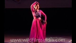 Kathak performance by Ridhima Bagga at Sopan Festival for young talent