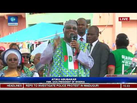PDP Holds Ekiti Governorship Rally, Presents Flag To Eleka Pt.12