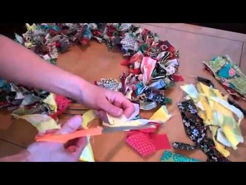 HomegirlTV: Fabric Scrap Wreath   YouTube