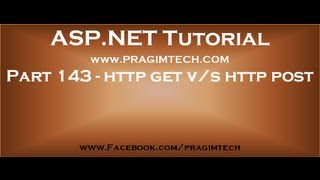 Part 143   Difference between http get and http post methods