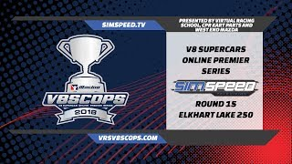 Virtual Racing School V8SCOPS 2018   Round 15   Road America