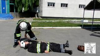 Двойная спасательная петля на пострадавшего