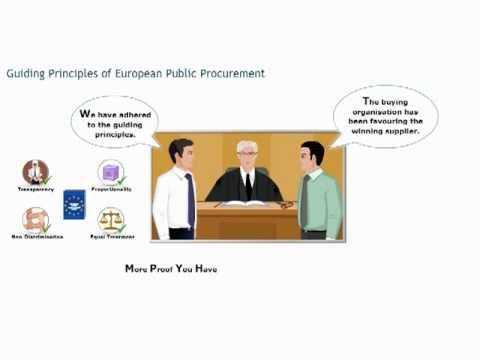European public procurement course: guiding principles - Procurement training - Purchasing skills