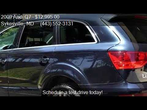 2009 Audi Q7 For In Sykesville Md 21784 At Trust Auto