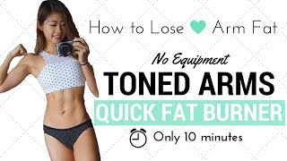 10 min Arm Fat Burning & Toning Workout (No Equipment!)   Healthy Snacks   stayfitandtravel