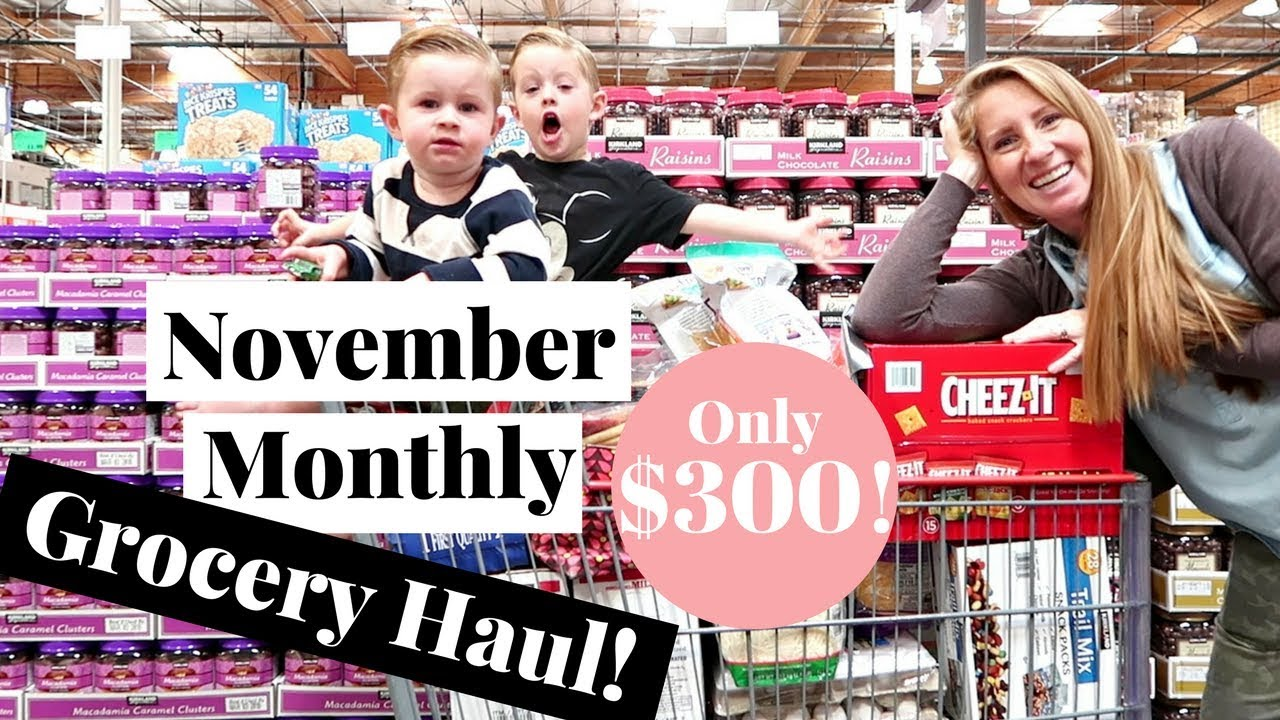 efb22f753f8 November 2017 MONTHLY Grocery Haul on a Budget | Costco Haul & Target Grocery  Haul