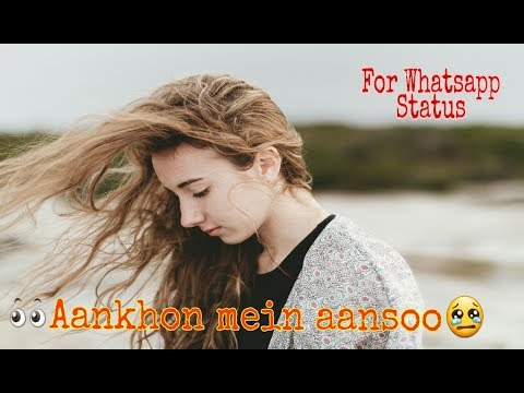 Aankhon mein aansoo leke | whatsapp status | by Soulful shayari