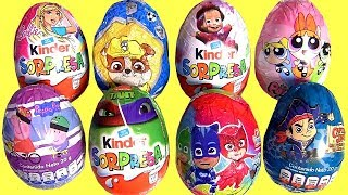 Kinder egg Ninja Turttles PJ Masks Barbie Paw Patrol PJ Masks  surprise eggs pop up toys