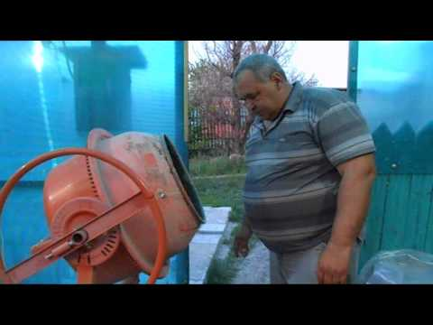 Как очистить бетономешалку