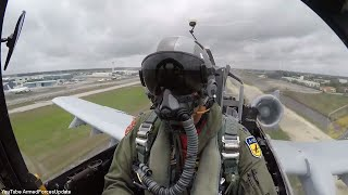 PILOTS VIEW US Air Force A-10 gets ready for Air Show in Miami Florida
