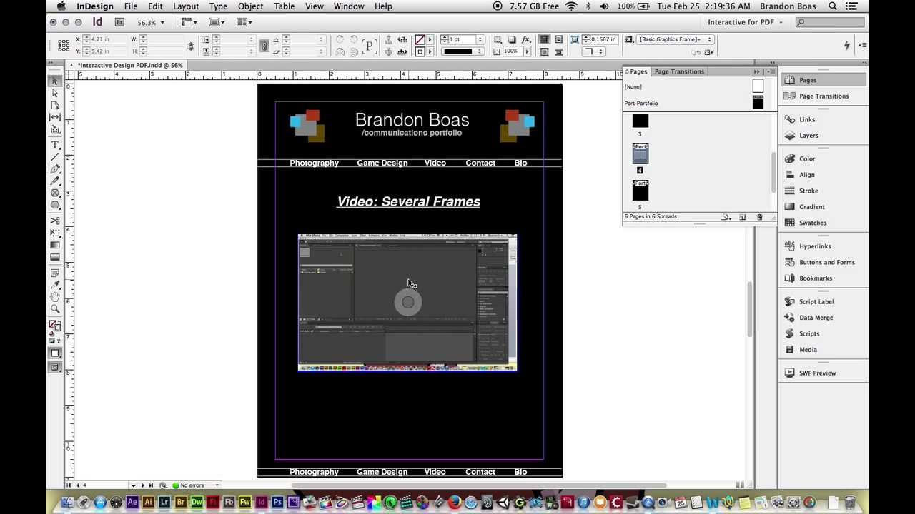 Creating A Jump Button in Adobe InDesign