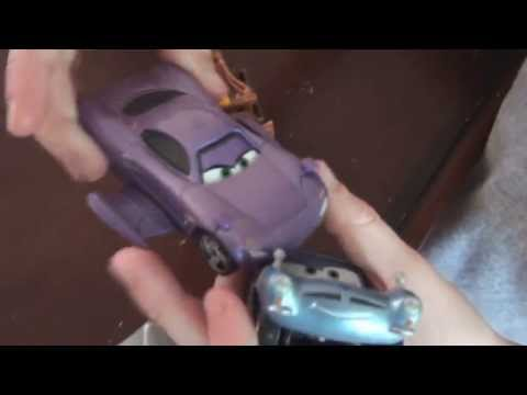 Pixar Cars 2, The Super Spies, featuring some Cars from Cars and Cars2, retro version