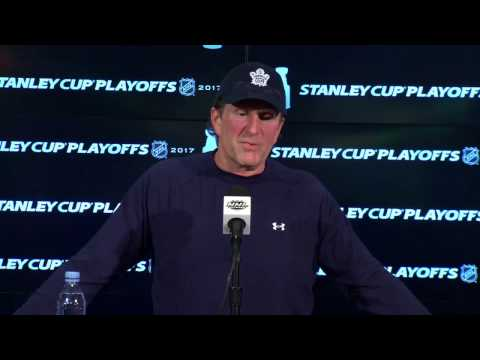 Maple Leafs Morning Skate: Mike Babcock - April 23, 2017