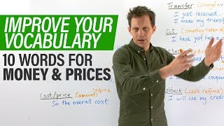 REAL ENGLISH VOCABULARY: 10 words to talk about MONEY & PRICES