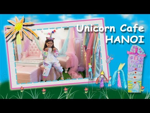 Weekend in Unicorn Cafe Hanoi Vietnam with kids - All Unicorns Rainbow Magical Place on Earth