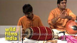 Manohar Balatchandirane, master of Mridangum performs in Delhi
