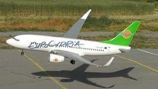 rc eurocypria 737 first official flight walkaround taxi takeoff lowpass landing