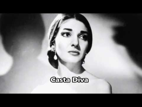 Casta Diva - Maria Callas - Bellini - (Subtitles: Italian and English)