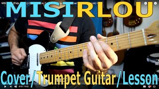 Misirlou (Pulp Fiction) Guitar Lesson, Cover, (fast, slow; with trumpet part and backing track) HD