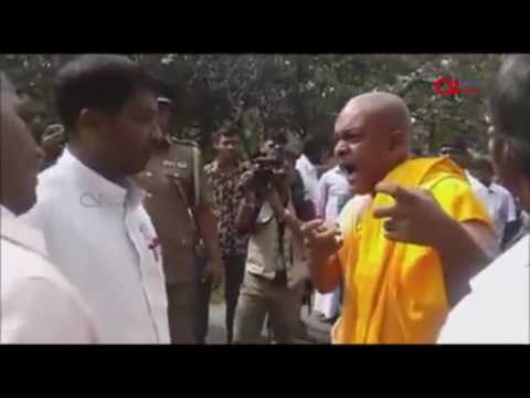 Top Buddhist Monk in Eastern Sri Lanka threatens Tamil govt officer with death in public