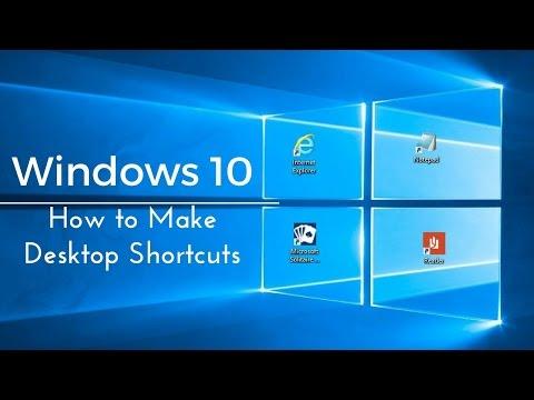how-to-make-desktop-shortcuts---windows-10-tutorial