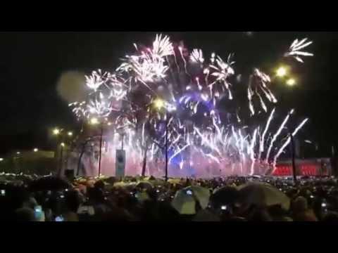 fireworks new year 2015  Japan tokyo ④ HD