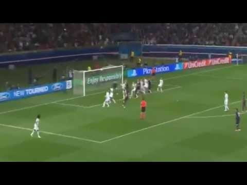 David Luiz Own Goal 2-1 Paris Saint Germain vs Chelsea | 2-4-2014 Champions League HD