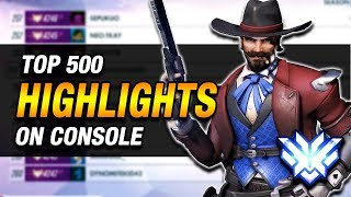 What a Top 500 McCree On Console Looks Like - McCree Gameplay Montage/Highlights