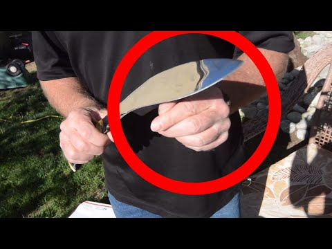 Guy cuts his finger off with a Kukri Knife