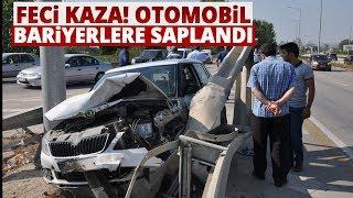 Bursa-ankara Karayolunda Trafik Kazası, Otomobil Bariyetlere Saplandı