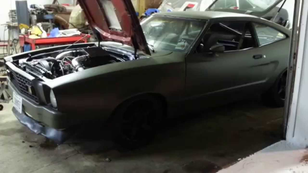 Ford Mustang Ii >> Twin turbo Mustang II. 351w twin T70 - YouTube