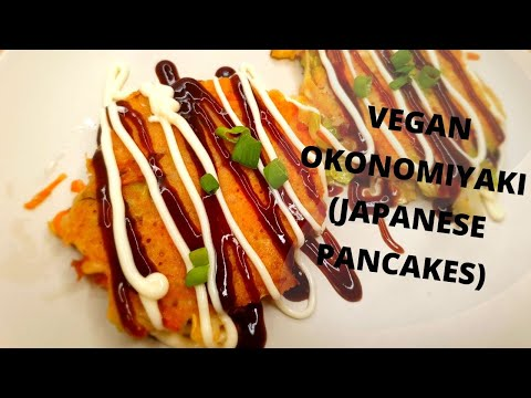 MAKING A SIMPLE VEGAN OKONOMIYAKI || Vegan Japanese Street Food (Japanese Pancake) | That Vegan Dad