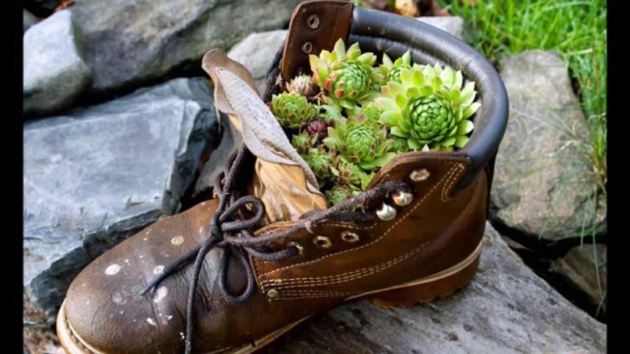 Papel De Parede Adesivo Herois ~ Vasos de sapatos, botas, t u00eanis e outros , Inspirações fazer voc u00ea fazer em casa! You