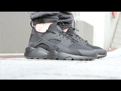 4a2ffce39a8 Nike AIR HUARACHE RUN ULTRA - Black - YouTube