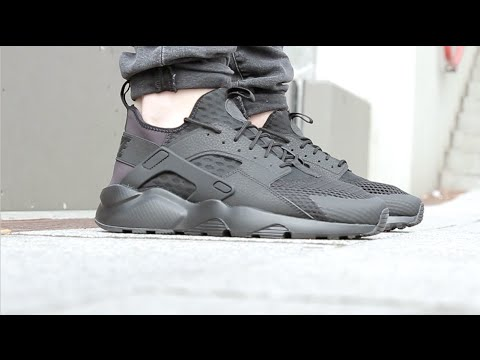 a81dcc493f5 Nike AIR HUARACHE RUN ULTRA - Black - YouTube